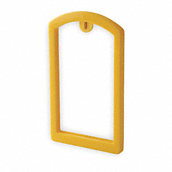 Label Pocket Frame, Pocket Recess, Yellow
