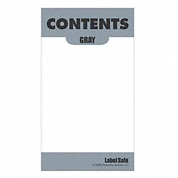 Content Label, 2 In. W, 3-1/2 In. H