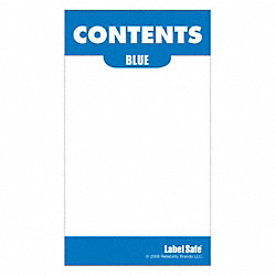 Content Label, 3-1/2 In. H, 2 In. W