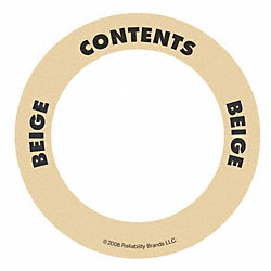 Content Label, 2 In. W, Beige