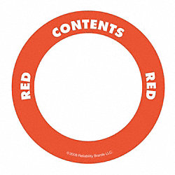 Content Label, 2 In. W, Red