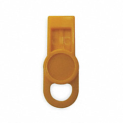 ID Washer Tab Label, Circle, Yellow, Pk 6