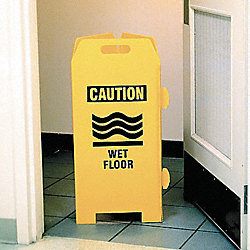Caution Sign, Wet Floor, Stand, 32x45
