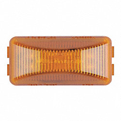 Clearance Light, LED, Amber, Rect, 2-1/2 L