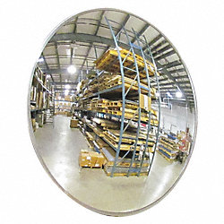 Indoor/Outdoor Convex Mirror, 18Dia, Glass