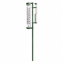 Post Mtd Rain Gauge/Thermometer