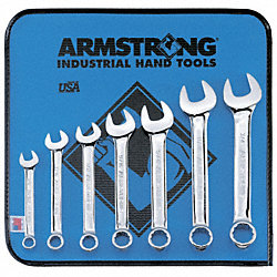 Combo Wrench Set, Polish, 1/4-1 in., 13 Pc