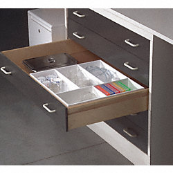 Drawer Organizer, 5Comp, 4x17.5x19.5In