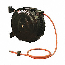 Hose Reel, Spring Return, 3/8 In IDx65 Ft