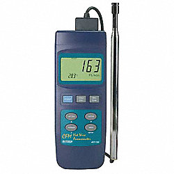 Anemometer, Hot Wire, 40 to 3346 FPM