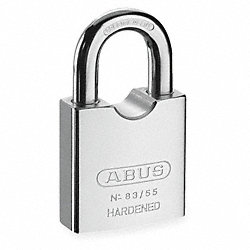 Rekeyable Solid Steel Padlock, Silver