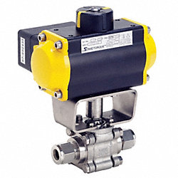 Ball Valve, Pneumatic Actuated, 3/8 In
