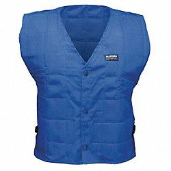Cooling Vest, XL, Blue, Evaporative Cotton