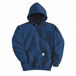 Hooded Sweatshirt, Navy, Cotton/PET, 2XL