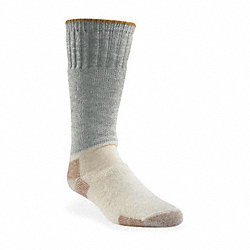 Outdoor, Socks, Mid-Calf, Mens, XL, Gray, 1 Pr