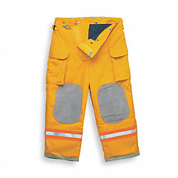 Turnout Pants, Yellow, L, Inseam 28 In.