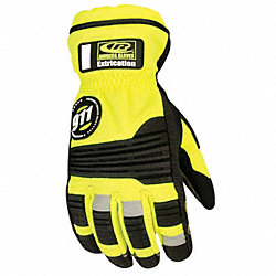 Extrication Gloves, S, Hi Vis Yellow, PR