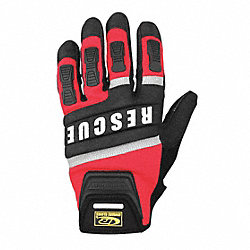 Extrication Gloves, Rescue, Red, XL, Pr