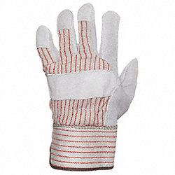 Leather Palm Gloves, Mens L, PR