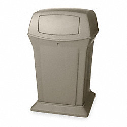 Waste Receptacle, Hinged Door, Beige, 45G