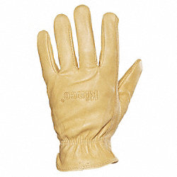 Leather Gloves, Mens M, Tan, PR