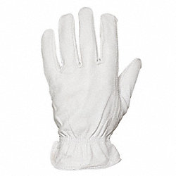 Leather Gloves, Off White, Mens S, PR