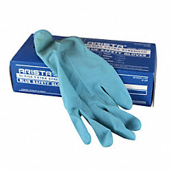 Disposable Gloves, Latex, M, Blue, PK50