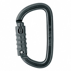 Carabiner, Aluminum, 4.3 In., Tri-Act Lock
