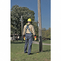 Full Body Harness, L, 420 lb., Bl/Gry/Ylw