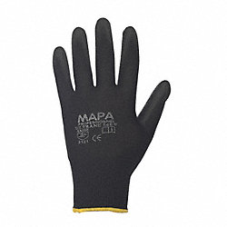 Coated Gloves, 10/XL, Black, PR