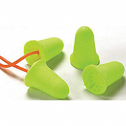 Ear Plugs, 33dB, Corded, Univ, PK100