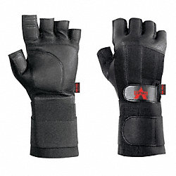 Anti-Vibration Glove, L, Black, Half Finger