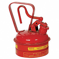Type I Safety Can, 1/4 gal., Red, 8In H