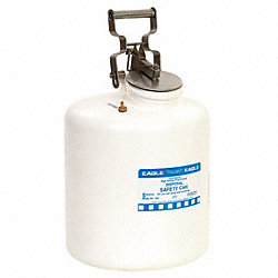 Disposal Can, 5 Gal., White, Polyethylene