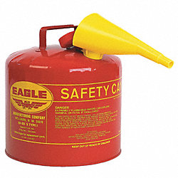 Type I Safety Can, 5 gal., Red, 13-1/2In H