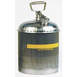 Type I Safety Can, 5 gal, Slvr, 15-7/8In H