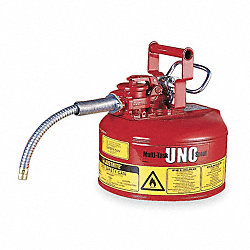 Type II Safety Can, Red, 10-1/2 In. H