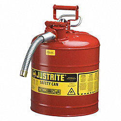 Type II Safety Can, Red, 17-1/2 In., 5 gal.