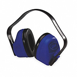 Ear Muff, 27dB, Multi-Position, Black/Blue
