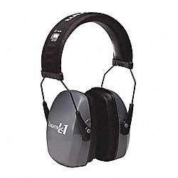 Ear Muff, 26dB, Neckband, Dark Gray