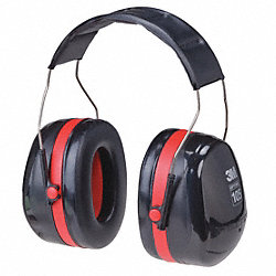 Ear Muff, 29dB, Behind-the-Head, Black/Red