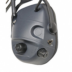 Electronic Ear Muff, 23dB, Over-the-H, Gra
