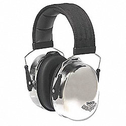 Ear Muff, 29dB, Over-the-Head, Silver