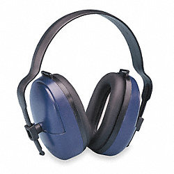 Ear Muff, 25dB, Headband, Black/Blue