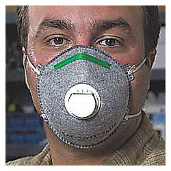Disposable Respirator, N95, OV, S, PK 10