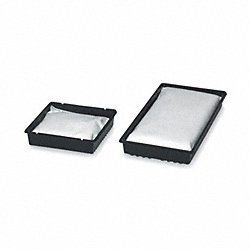 Drip Pan, 21 In. L, Black, 12 gal., Silicate