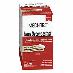 Sinus Decongestant, Tablets, PK 250