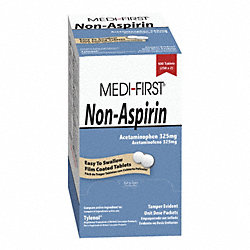Non-Aspirin, Tablets, Acetaminophen, PK 250