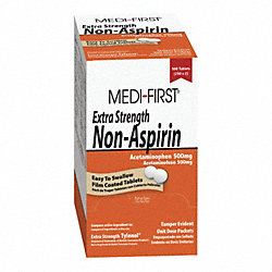 Ex Strength Non-Aspirin, Tablets, PK 500