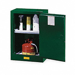 Cabinet, Pesticide, Green, 12 Gallon